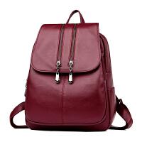 双肩包女皮韩版 新款女士旅行包搭学生书包大容量妈咪背包SJ