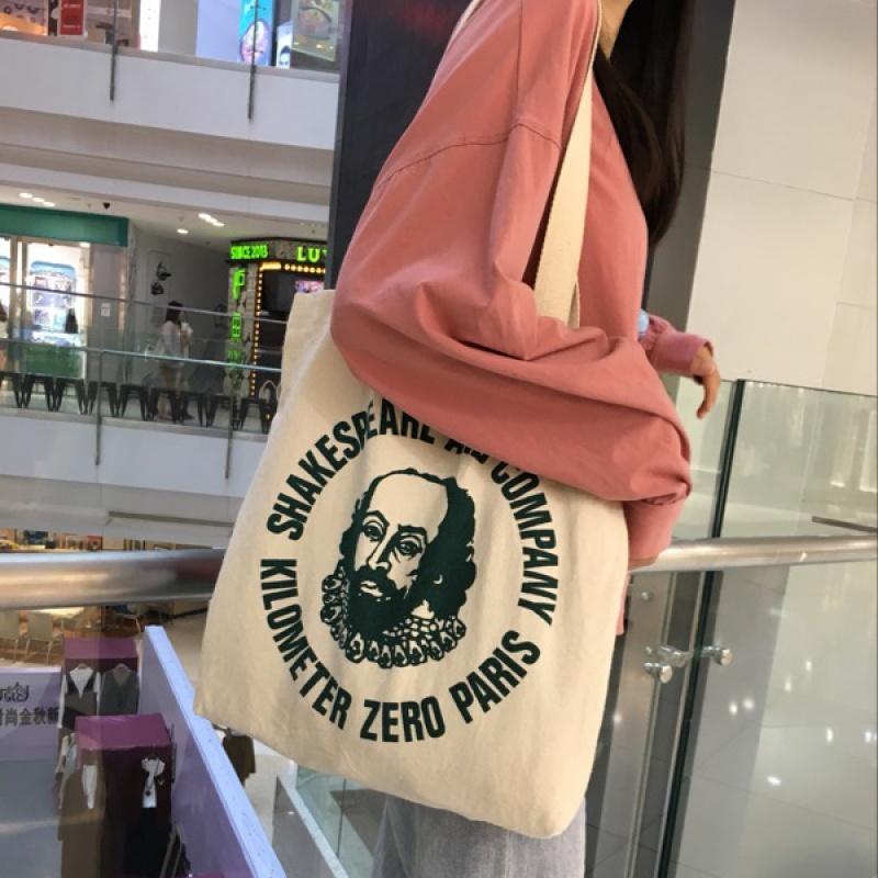 韩国简约字母港风ins帆布袋女包chic购物袋单肩学生帆布包大包包 发货周期:一般在付款后2-90天左右发货,具体发货时间请以与客服协商的时间为准