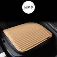 单片汽车坐垫四季通用亚麻车载坐垫透气无靠背坐垫荞麦壳单个座垫