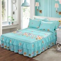 床裙单件全棉双层花边床罩纯棉席梦思保护套韩式公主床单床笠