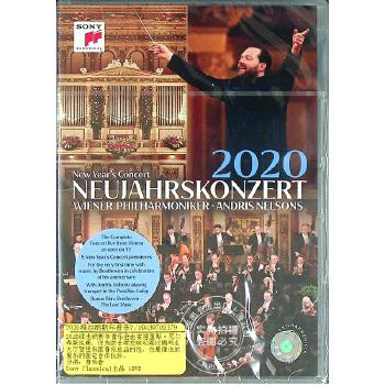 现货 中图音像 2020维也纳新年音乐会 1DVD  原装进口 原版 指挥安德里斯·尼尔森斯Andris Nelsons 指挥 维也纳爱乐乐团 上海中图,进口音像