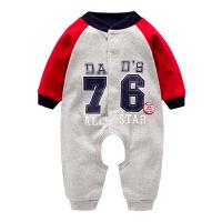婴儿连体衣春秋女1岁新生儿爬服3男6-12个月开裆哈衣宝宝衣服春装