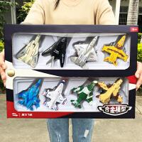 儿童玩具4-6岁回力合金小飞机套装战斗机客机仿真模型宝宝男孩2-3