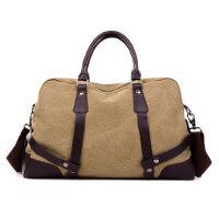 男包潮休闲帆布包女包旅游行李包女士手提包单肩包斜挎包大包