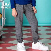 【1件5折 到手价:64.5元】水孩儿(SOUHAIT)秋季新款男童男大童简约针织长裤AKKQL557
