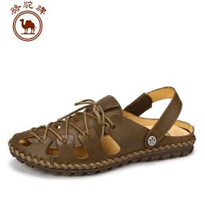 骆驼牌男凉鞋 夏季新款 日常休闲男鞋露趾透气户外沙滩鞋子
