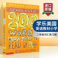 学乐美国英语教材小学二年级100个单词词汇练习册英文原版 正版进口英文版 Scholastic 100 Words K