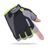 夏季薄款防滑露指男女士户外运动登山开车骑行健身半指手套