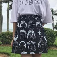 酷酷的女装办身裙设计感半身裙个性潮帅气夏女人裙子性感短裙 黑色
