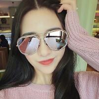 偏光太阳镜女镂空个性墨镜明星款韩国圆脸开车太阳眼镜