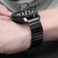 新款一珠链式表带 华米手表带1代2代2S替换表带 米动青春版小米米家石英表 金属商务不锈钢轻奢风个性