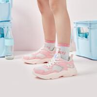 【折后叠券预估价:73】361度童鞋 女童休闲鞋2021夏季新品中大童运动鞋儿童网面防滑时尚嘲鞋N82023820