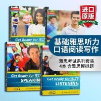 基础雅思听力口语阅读写作 雅思考试系列套装4本 英文原版考试辅导书 Get Ready for IELTS Liste