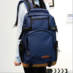 新款男女双肩包电脑背包韩版时尚潮流大高中学生帆布休闲旅行书包