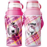 HelloKitty儿童保温杯不锈钢女学生凯蒂猫水杯带吸管儿童卡通水壶