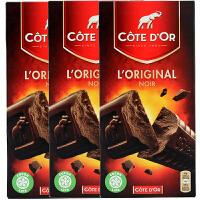 Cote D'or克特多金象 亿滋进口 黑巧克力--条块装200g*3盒(比利时进口) 七夕* 休闲小零食