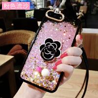 iphone6手机壳女款6s流沙液体流动苹果7p新款8x韩国潮牌7plus全包x保护套6 苹果6P/6SP-- 粉色流