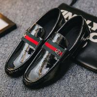 春季新款豆豆鞋男韩版社会小伙一脚蹬男鞋英伦风男学生小皮鞋