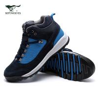 七匹狼休闲鞋男士新款时尚都市户外运动高帮休闲鞋男