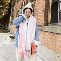 雪花款双面围巾女学生秋冬季保暖仿羊绒披肩