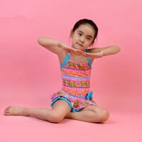 儿童泳衣 女童连体温泉泳衣裙式可爱蝴蝶结沙滩泳衣 支持礼品卡支付