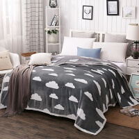 空调毯珊瑚绒毯子加厚法兰绒毛毯午睡单双人薄毛巾被冬季保暖床单 230x250cm 约4.2斤