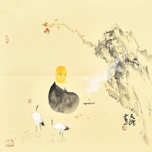 中国国际书画协会会员 天语《禅心图》gr01092