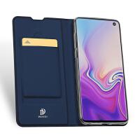 Samsung三星S10 Plus S10e手机壳case翻盖皮套防摔插卡袋保护壳套 宝蓝色 三星S10