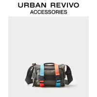 URBAN REVIVO2020秋季新品男士配件新潮撞色斜挎包AM28TB4E2001
