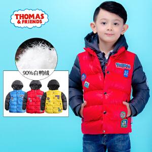 【满200减110】托马斯童装男童冬装羽绒服三色可选儿童短款卡通休闲羽绒服托马斯和朋友
