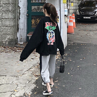 休闲运动套装女装秋季新款韩版加绒卫衣宽松阔腿裤网红两件套