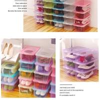 小号透明塑料收纳盒装鞋杂物的置物箱有盖收纳盒子放衣柜内的