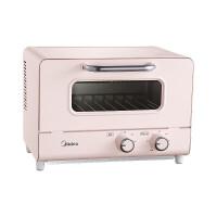 美的(Midea)家用�烤箱 �p石英管��� 多功能烘烤 迷你烤箱 小型烘焙全自�拥案�� PT12A0