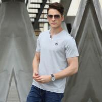 8895吉普盾夏装新款V领短袖polo衫 大码休闲弹力男半袖T恤衫
