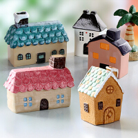 zakka树脂小房子创意家居饰品女生卧室房间个性桌面工艺品小摆设