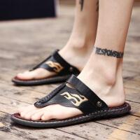 人字拖男士夏季室外皮凉鞋耐穿外穿2019新款韩版个性夏天潮流凉拖夏季百搭鞋