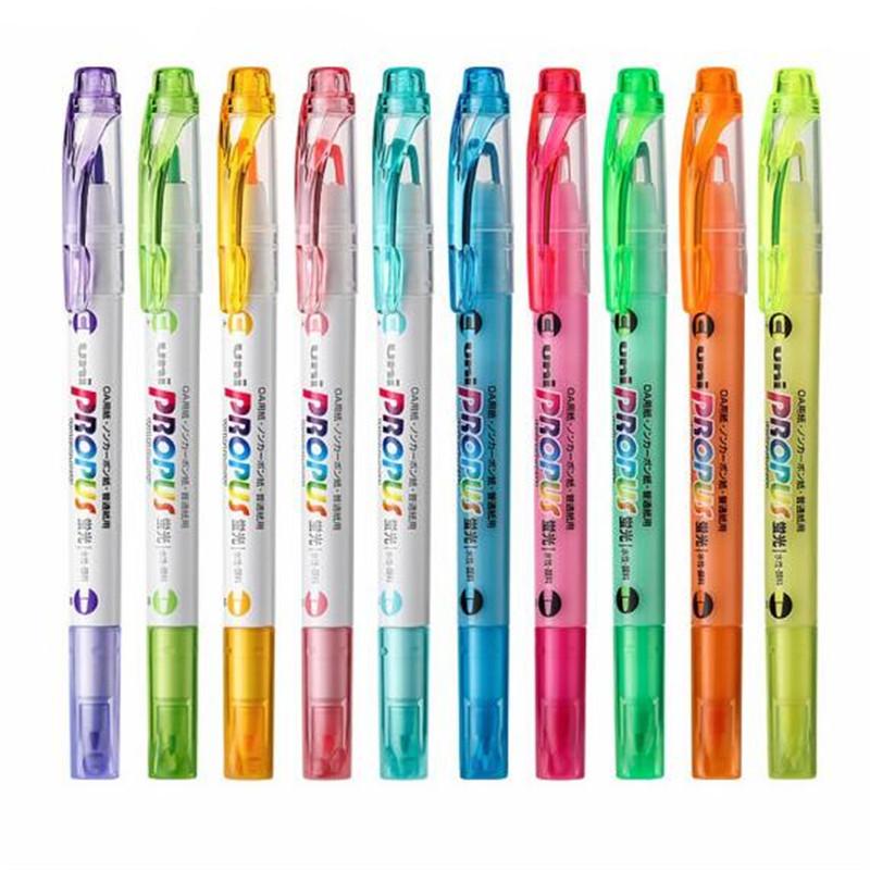 三菱荧光笔 PUS-102T糖果色标记笔 重点涂鸦笔 彩色记号笔 手账笔