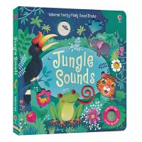 【首页抢券300-100】Usborne Touchy-Feely Sound Books Jungle Sounds