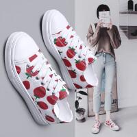 女鞋夏季休闲鞋女板鞋帆布鞋女透气韩版2019新款草莓鞋学生百搭平底潮流