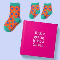 英文原版 你要当姐姐了 礼品书 送两双袜子 二胎家庭 新生儿礼物 YGTSIS You're Going to be