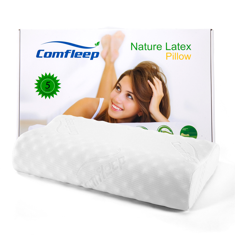 Comfleep泰国乳胶枕头颈椎病专用枕芯天然泰国进口纯乳胶透气成人高低枕颈椎