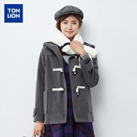 【2件3折价74.5元】秋冬新款韩版休闲时尚女装毛呢外套保暖长袖中长款修身呢大衣