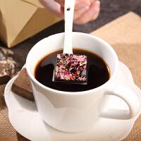 果然之家 玫瑰黑糖姜茶玫瑰花红糖手工熬制玫瑰红枣黑糖块200g