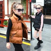 冬装女童棉马甲中大童马夹儿童装女孩外套