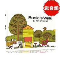 进口英文原版 Rosie's Walk 母鸡萝丝去散步 Pat Hutchins 廖彩杏书单儿童绘本 儿童启蒙学习英文