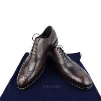 Prada男士棕色商务系带皮鞋2EB127 棕色7码41码