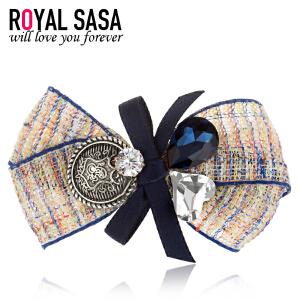 皇家莎莎RoyalSaSa发饰头饰品复古手工蝴蝶结边夹刘海夹碎发夹子韩版发卡