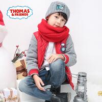【每满100减50】托马斯正版童装男童冬装时尚撞色拼接棒球服厚外套棉服