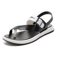 凉鞋男潮2019款休闲学生凉鞋防滑男士拖鞋沙滩鞋夏季韩版凉拖两用 8811黑色 偏小一码