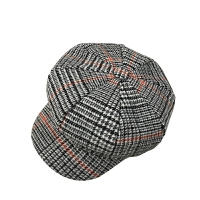 帽子女秋冬八角帽韩版格子复古贝雷帽英伦鸭舌画家帽子潮人 M(56-58cm)